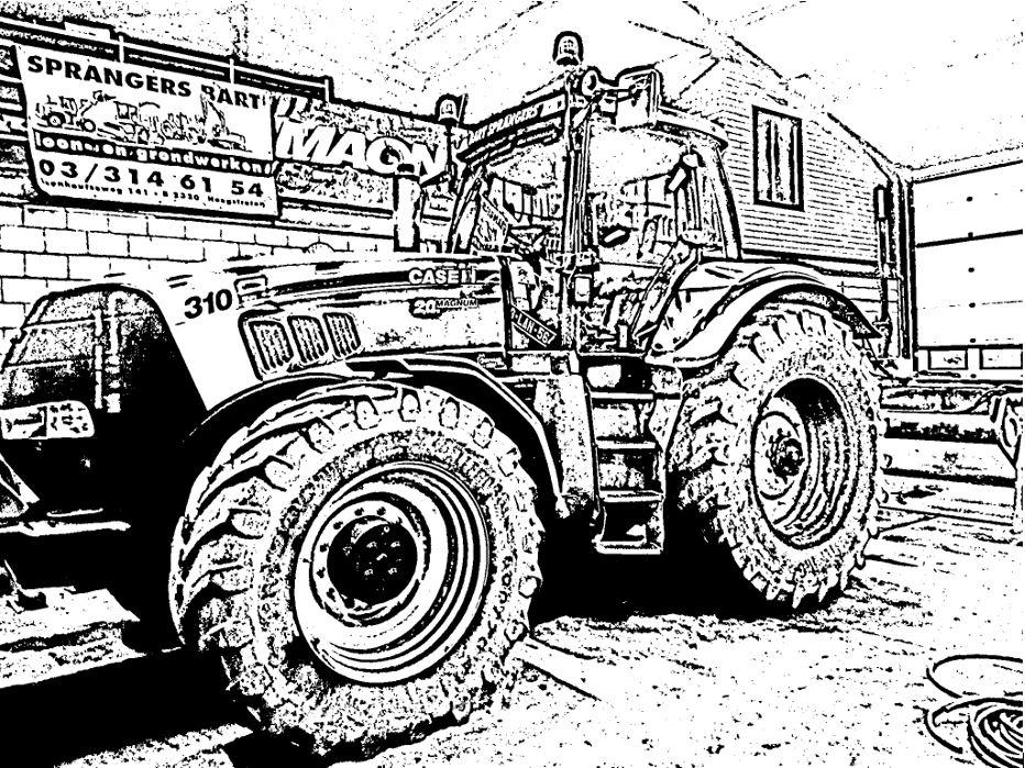 Kleurplaten Printen Tractor Kleurplaten Dirk Geerts Loon Grond Amp Sloopwerken